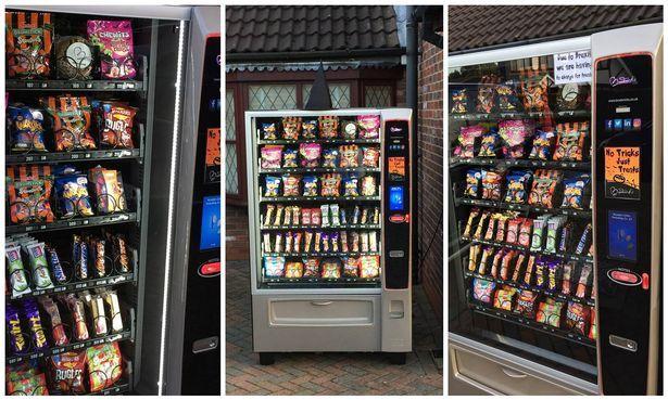 Broderick's halloween vending machine